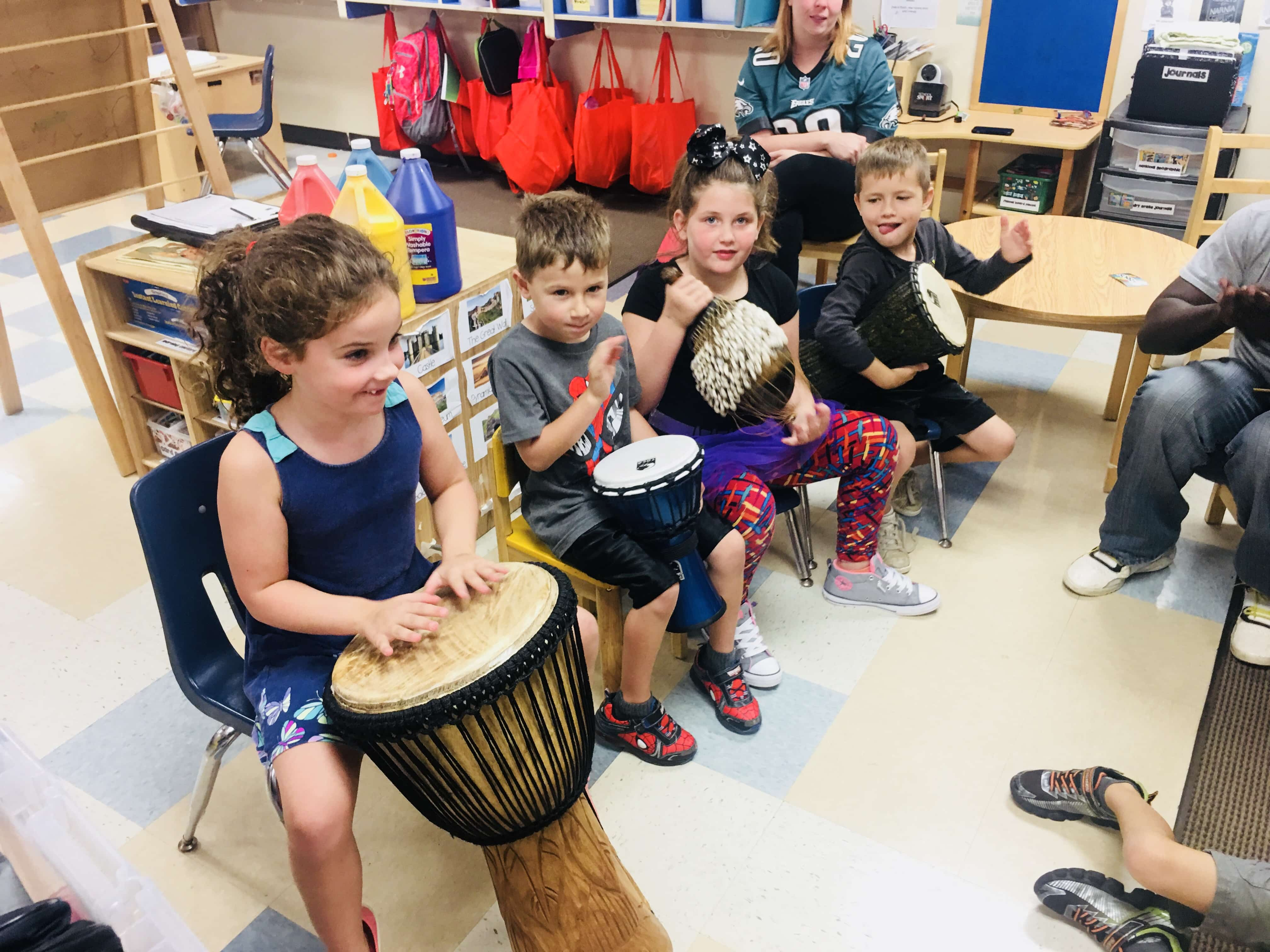 Djembe Drum Circle at KinderCare