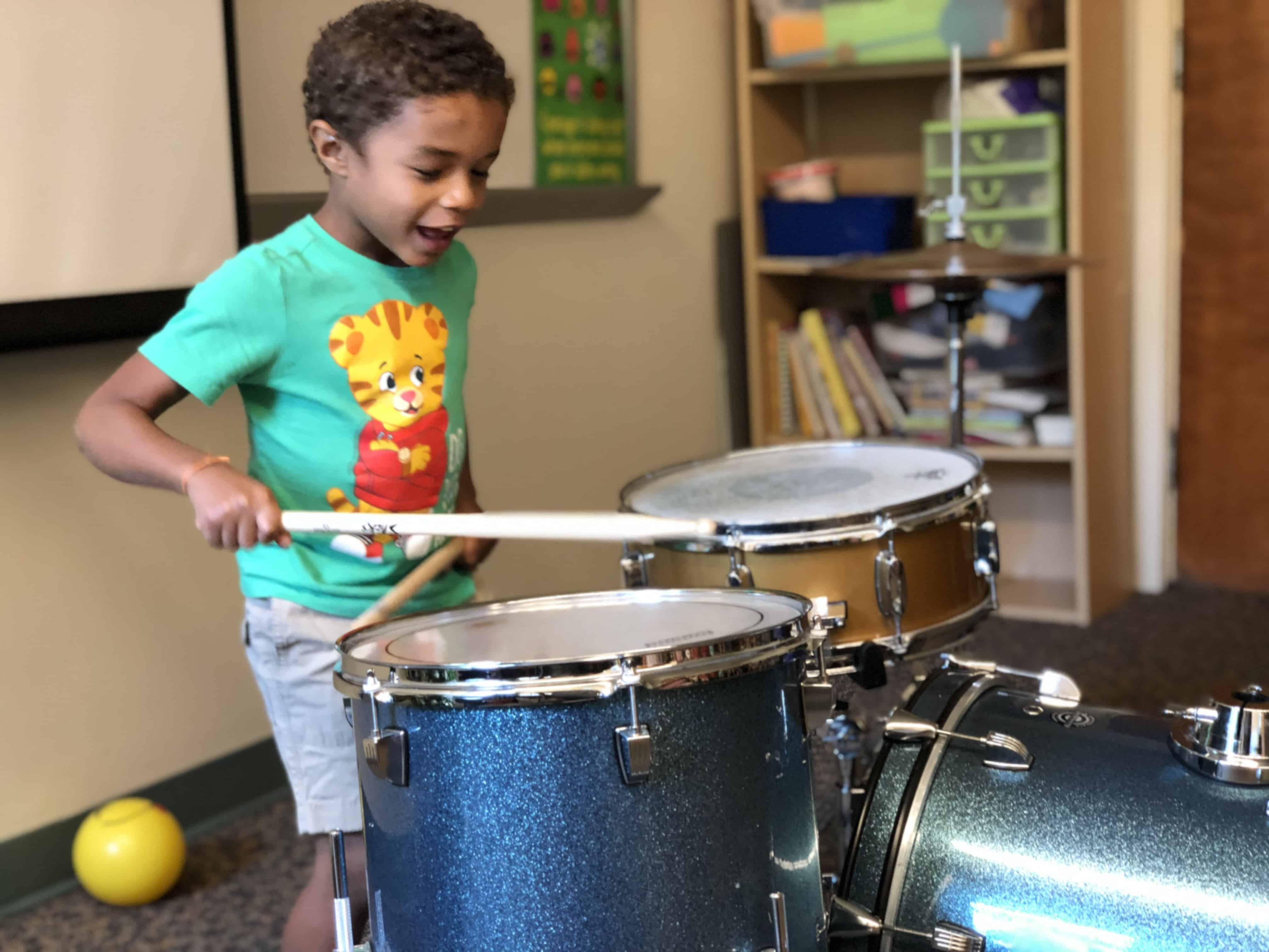 child drumming
