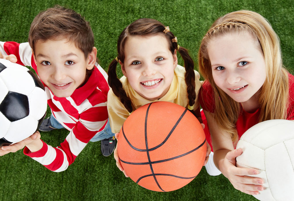 Kids Posing for Sports