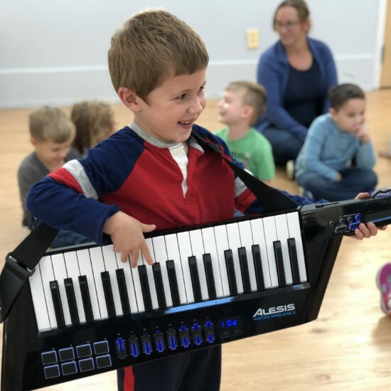 Playing Keytar