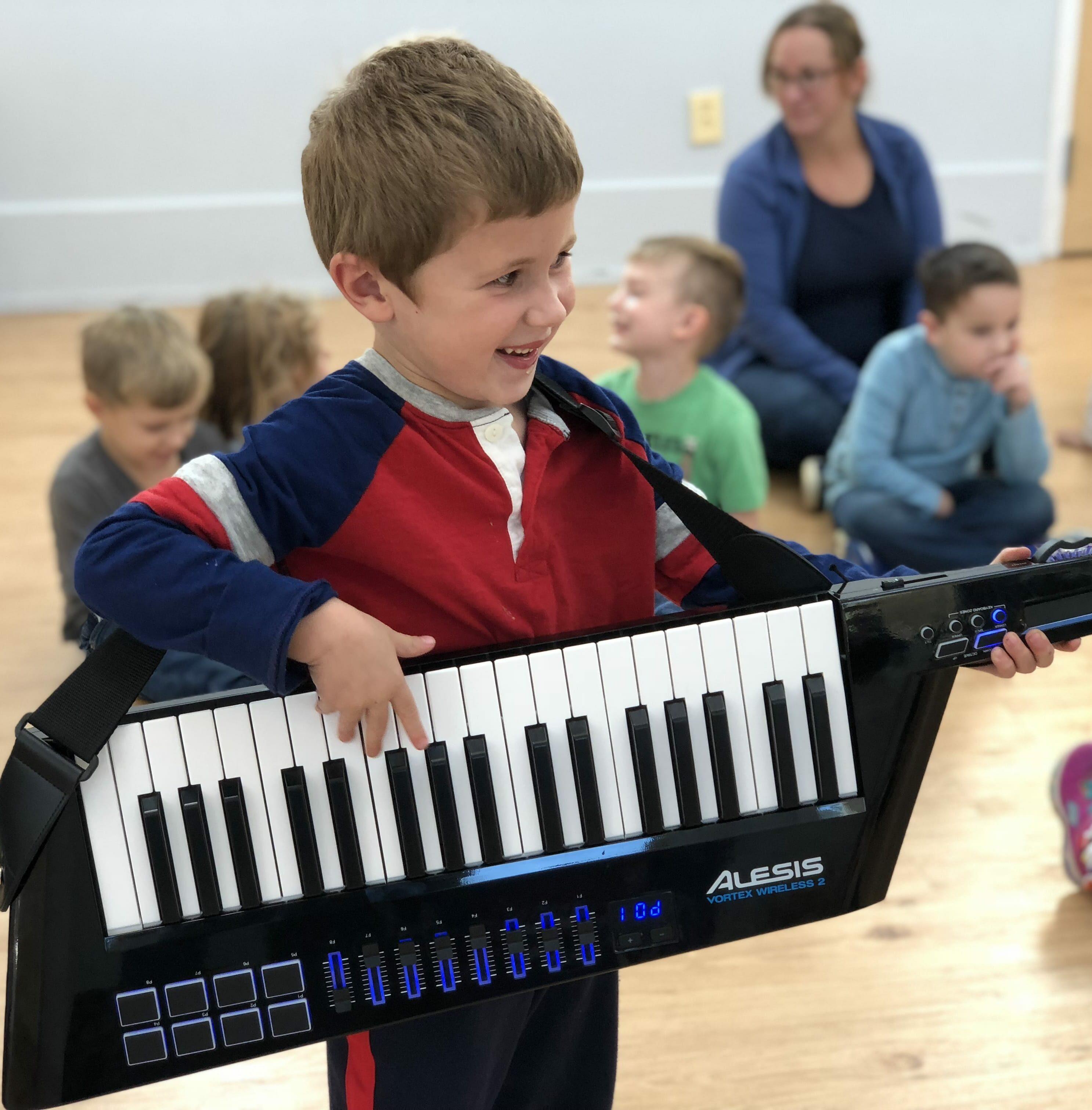 Playing Keytar