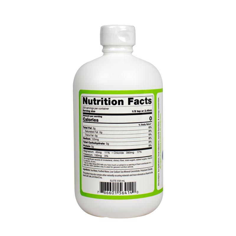 elete electrolyte Add-In18.6oz Fact Panel