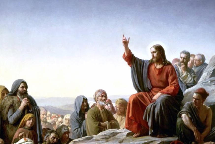 Famous painting of European Jesus teaching