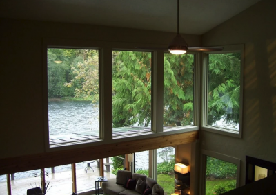 McKenzie River vacation home rental view from loft
