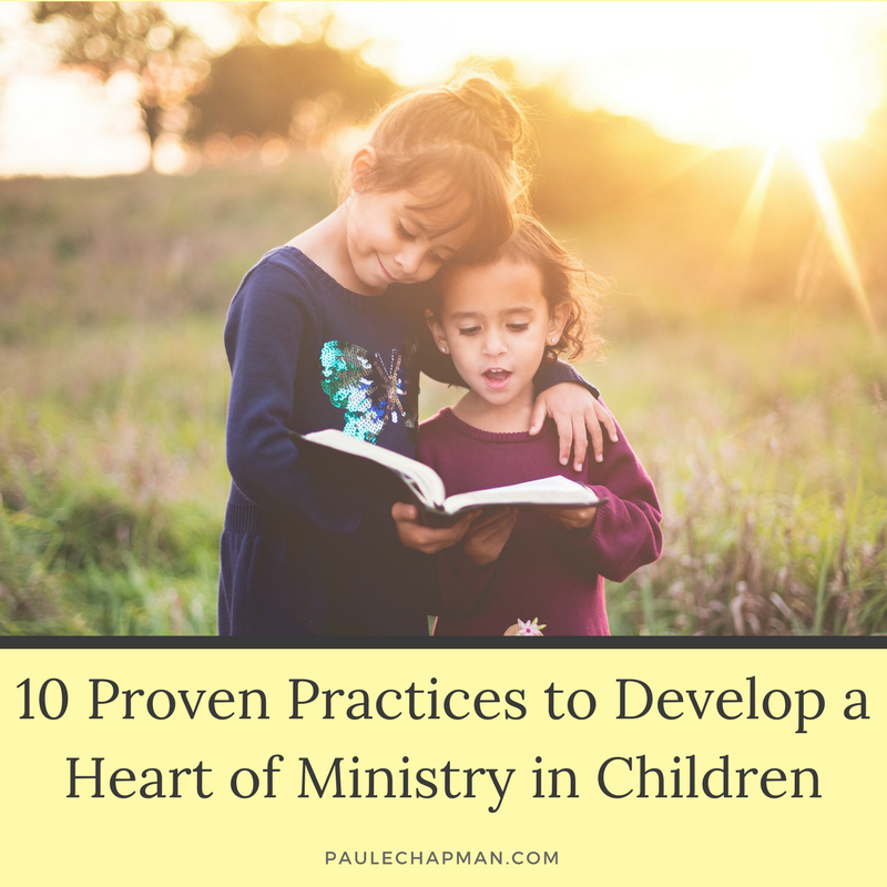 Developing a heart of ministry in children