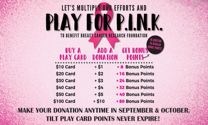 Play For Pink at Tilt Studio