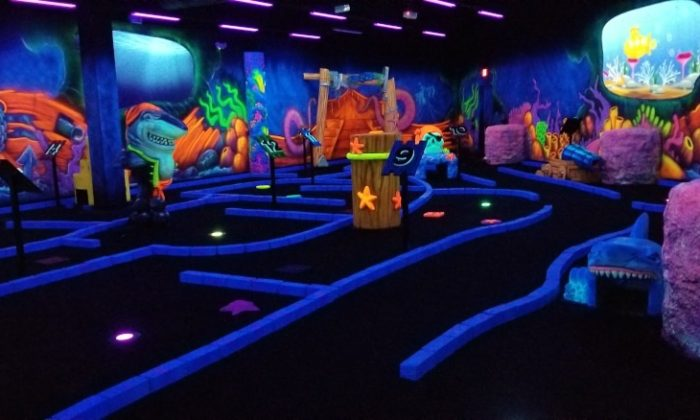 Black light Mini Golf Pecanland Mall