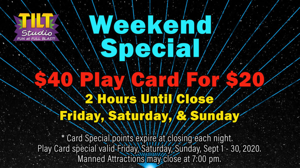 Weekend Special 40 for 20