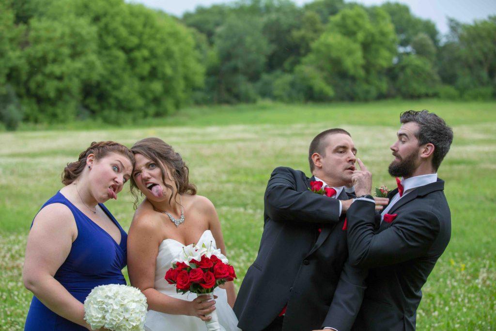Bridal Party goofy photo