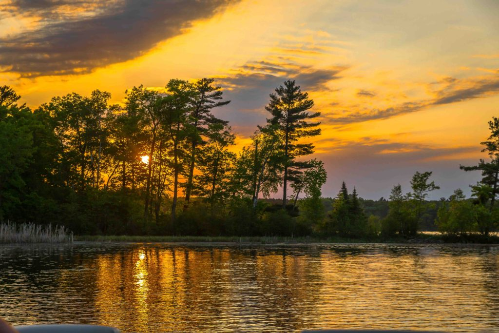 Sunset Photo at Crooked Lake
