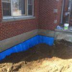 completed basement waterproofing