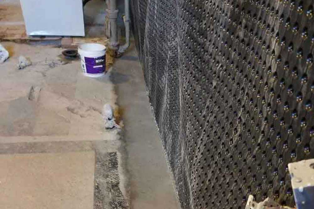 interior basement waterproofing process