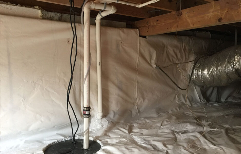 Crawl Space Sump Pump-installation