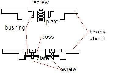 Transmission wheel AKA Crown Wheel