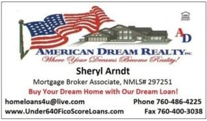 Sheryl Arndt, Broker,ADR business card