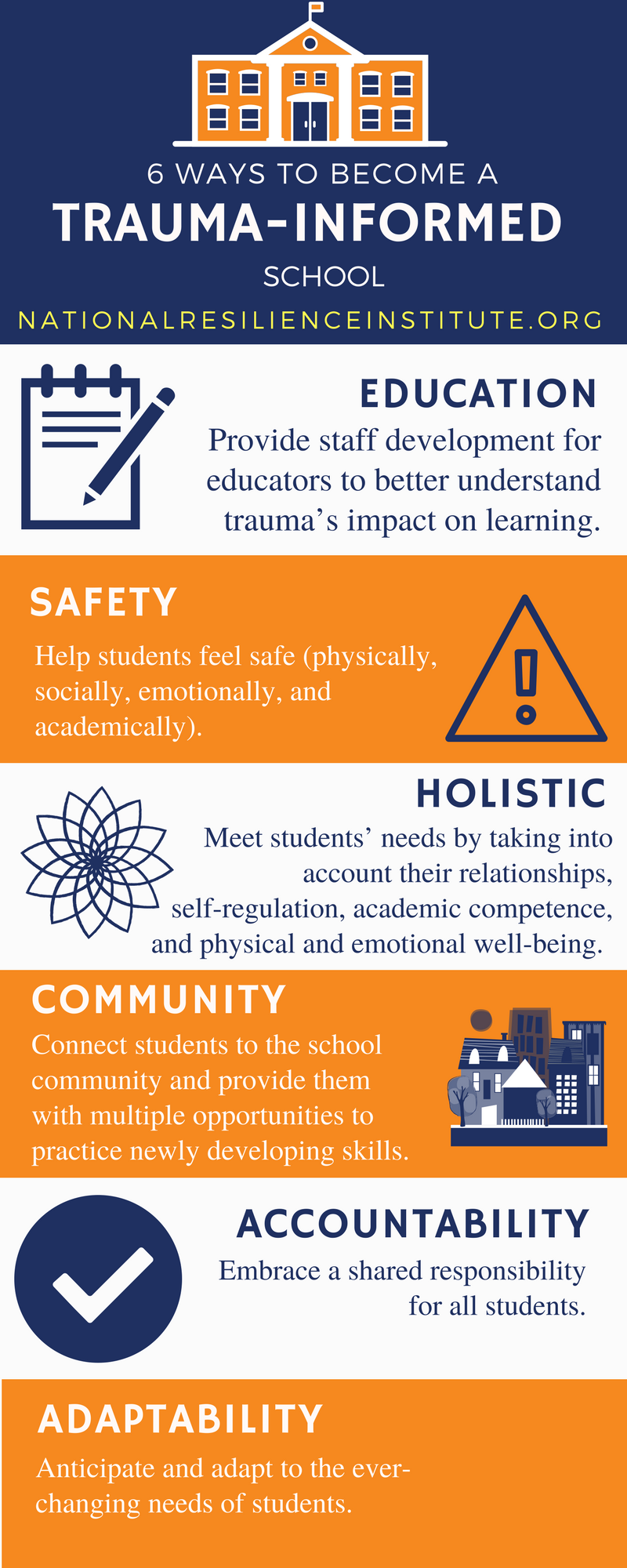 6 ways to become trauma informed school