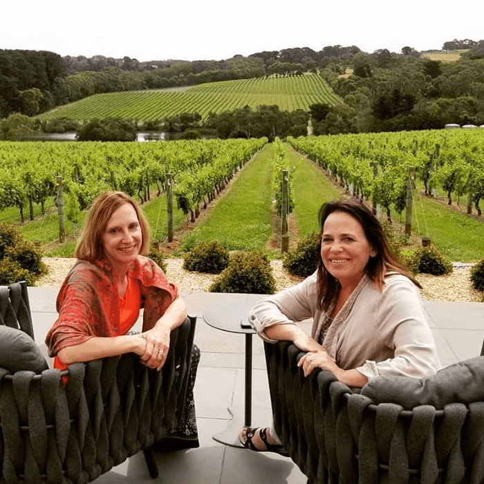 Dr Mollie Marti and her sister