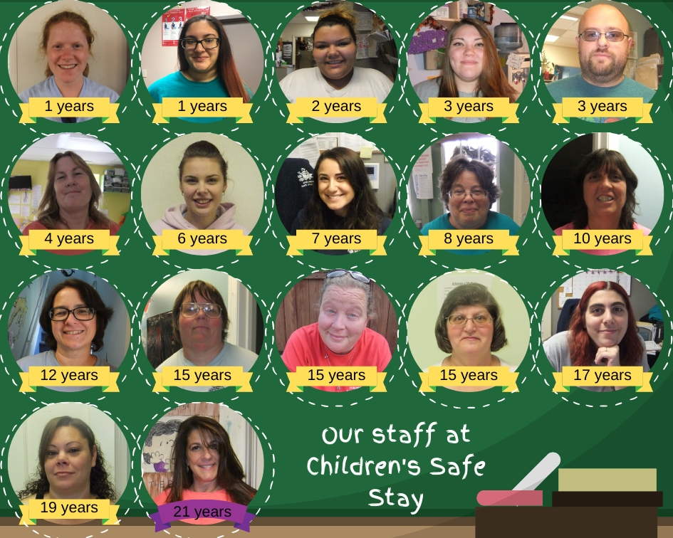 Staff at Children's Safe Stay Inc