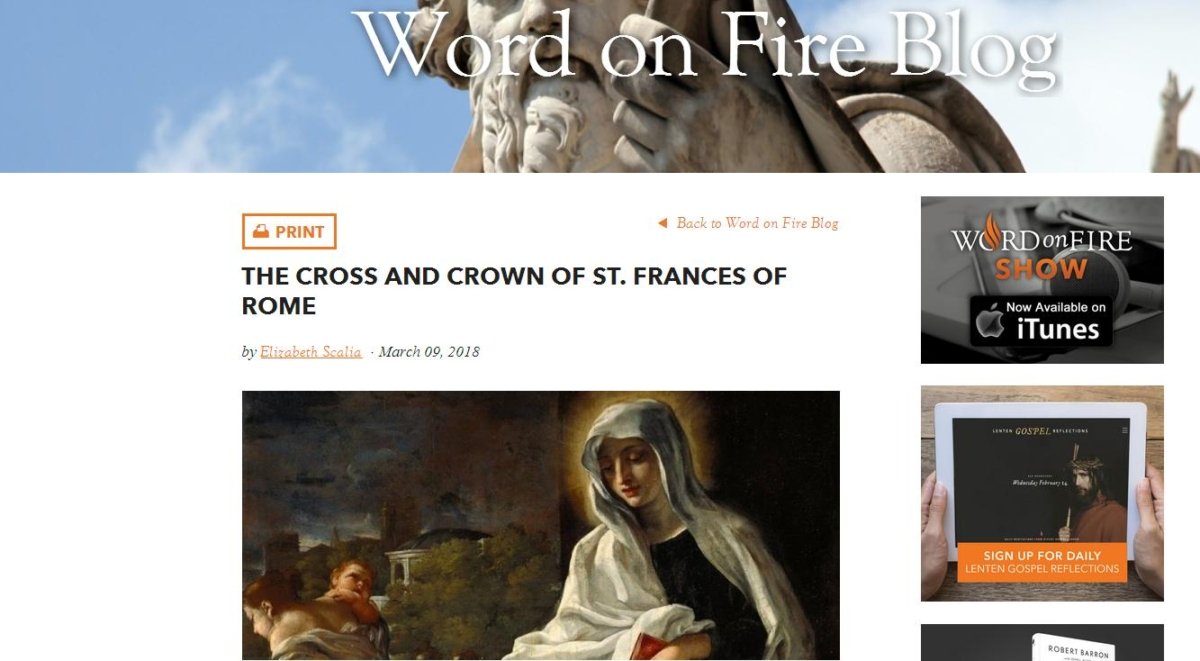 Meet Frances of Rome at Word on Fire!