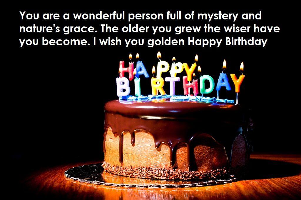 I wish you golden Happy Birthday