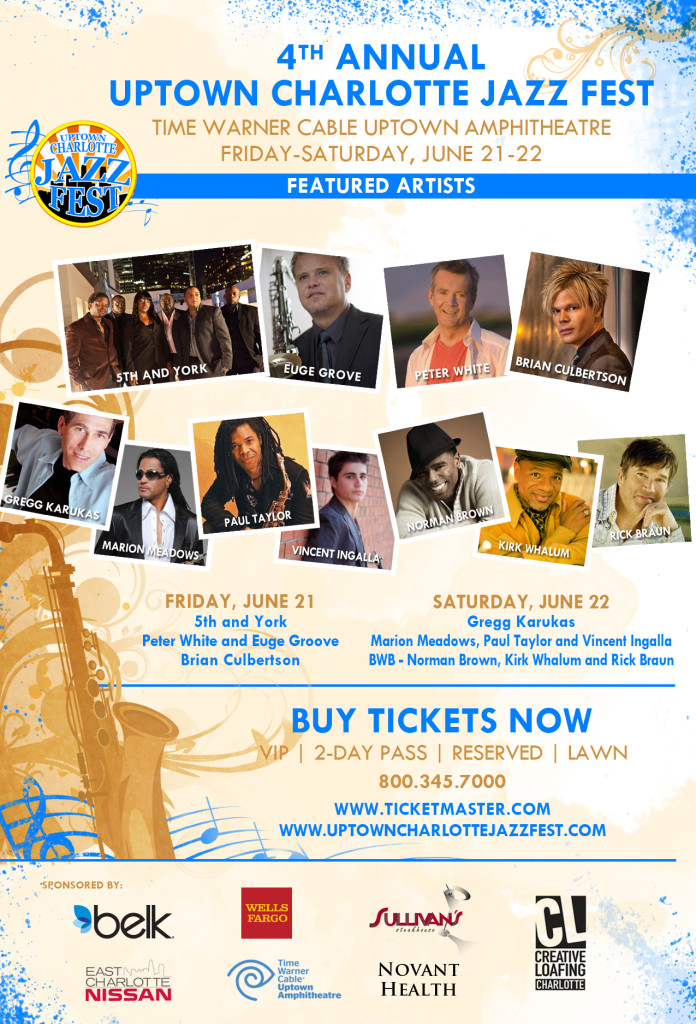 The 4th Annual Uptown Charlotte Jazz Festival - 2013