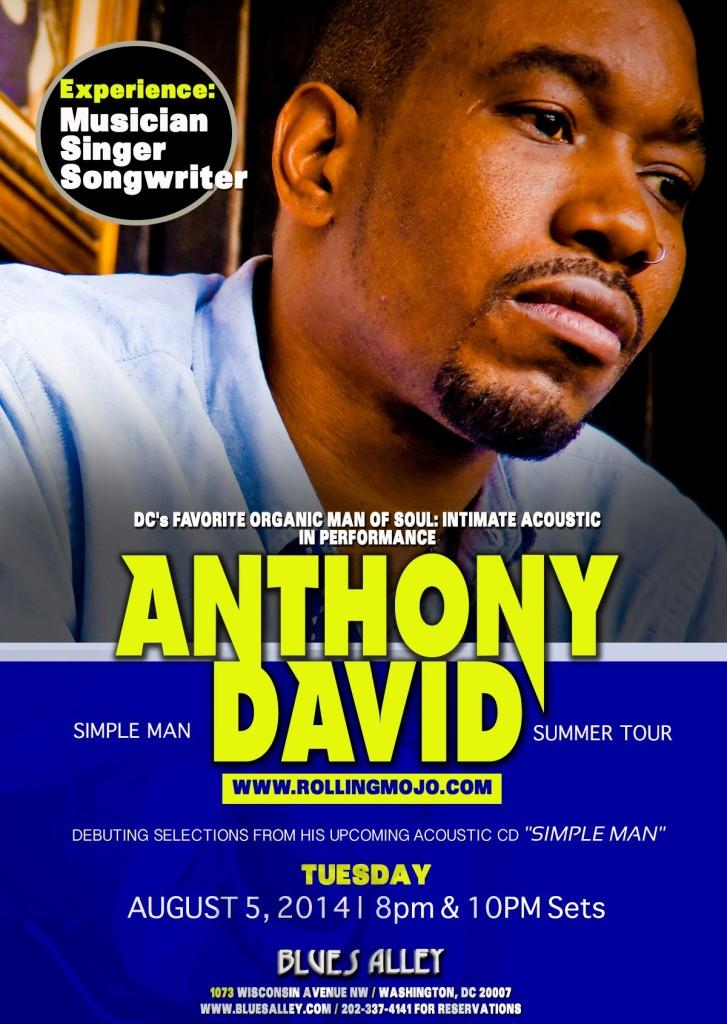 Anthony David - Blues Alley 2014