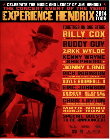 Experience Hendrix - 2014 tour