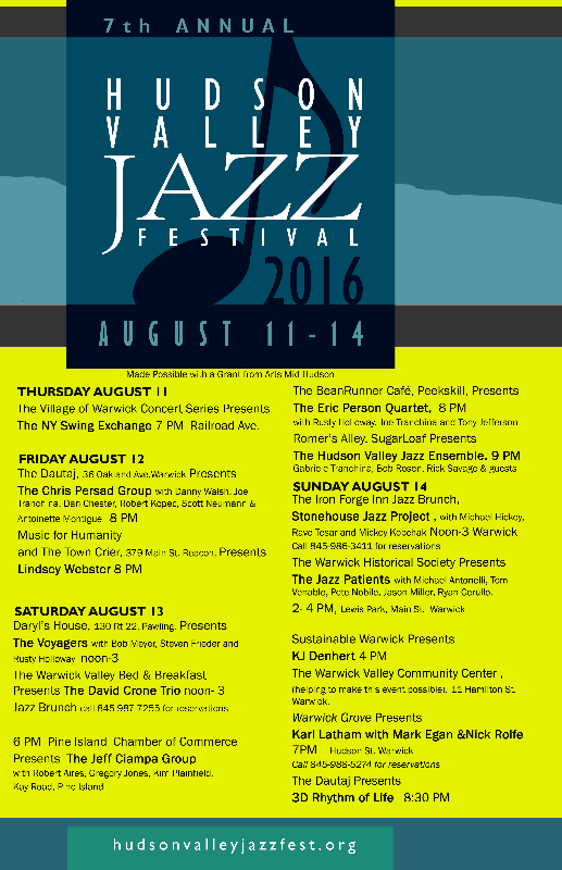 The Hudson Valley Jazz Festival - 2016