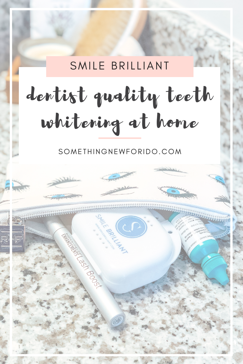 I'm sharing about my teeth whitening experience with Smile Brilliant, plus offering a $149 value giveaway, just in time for the holidays! #giveaway #teethwhitening #somethingnewforido #whiteteeth #teethwhiteningtrays