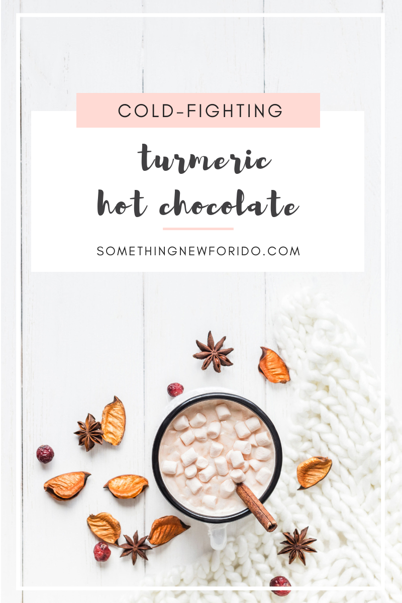 Little man is sick for the second time + now I'm coming down with it again too. One thing that soothed my throat last time that I'm looking forward to indulging in again this time - turmeric hot chocolate! I'd love to share my recipe in hopes of it helping you this cold + flu season. #coldseason #fluseason #turmeric #turmerichotchocolate #somethingnewforido