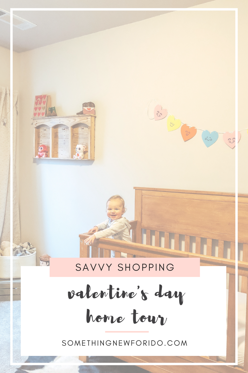 A few festive Valentine's Day decor pieces here and there make our home feel a little cozier and more cheerful. And, I love making all the holidays - even the smaller ones - feel special to my family. I was thrilled to find such fun baby boy friendly Valentine's Day decor at Target! #targetdollarspot #valentinesdaydecor #somethingnewforido #somethingnewforpinkandblue