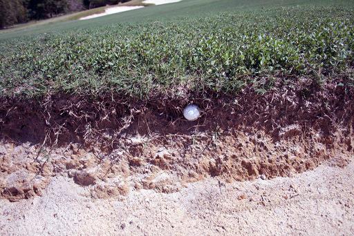 Unplayable Ball in Bunker