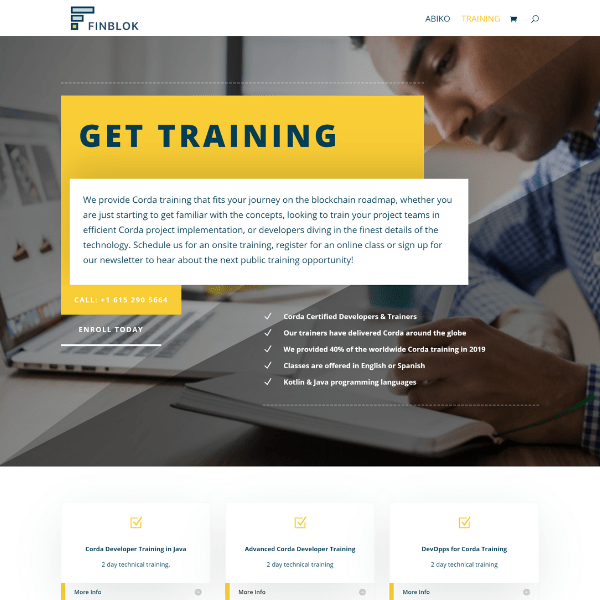 Finblok Training page