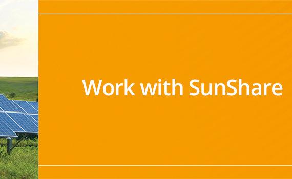 Work with Sunshare billboard