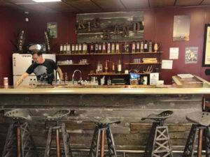 tasting bar rig hand distillery