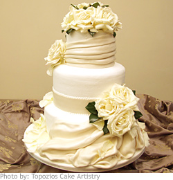 Wedding Cake Wrapped in Love