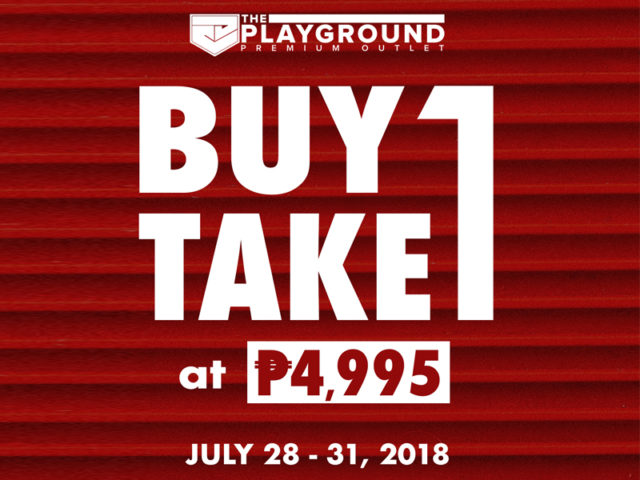 SALE ALERT: Playground's Running a Buy 1 Take 1 Sale this Weekend