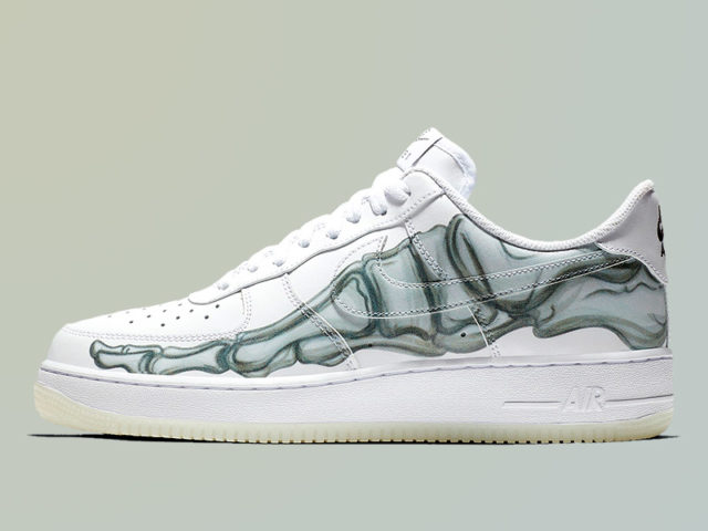 Nike spooks us with these Skeleton Air Force 1s