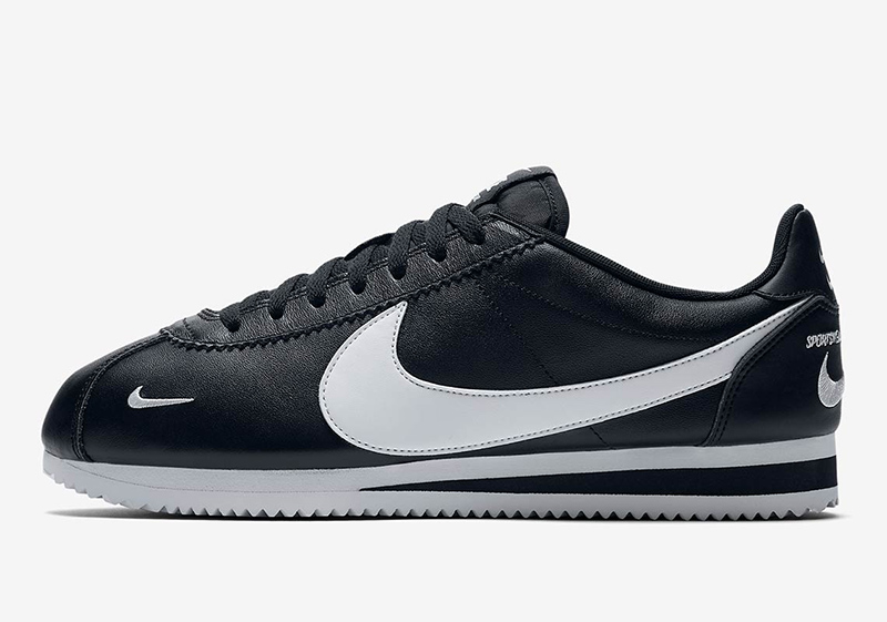 The latest Cortez has Nike branding for