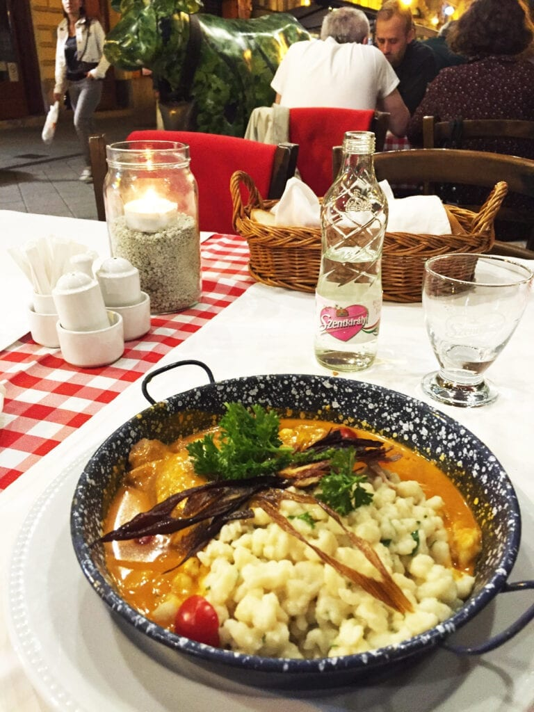traditional hungarian dish chicken paprika