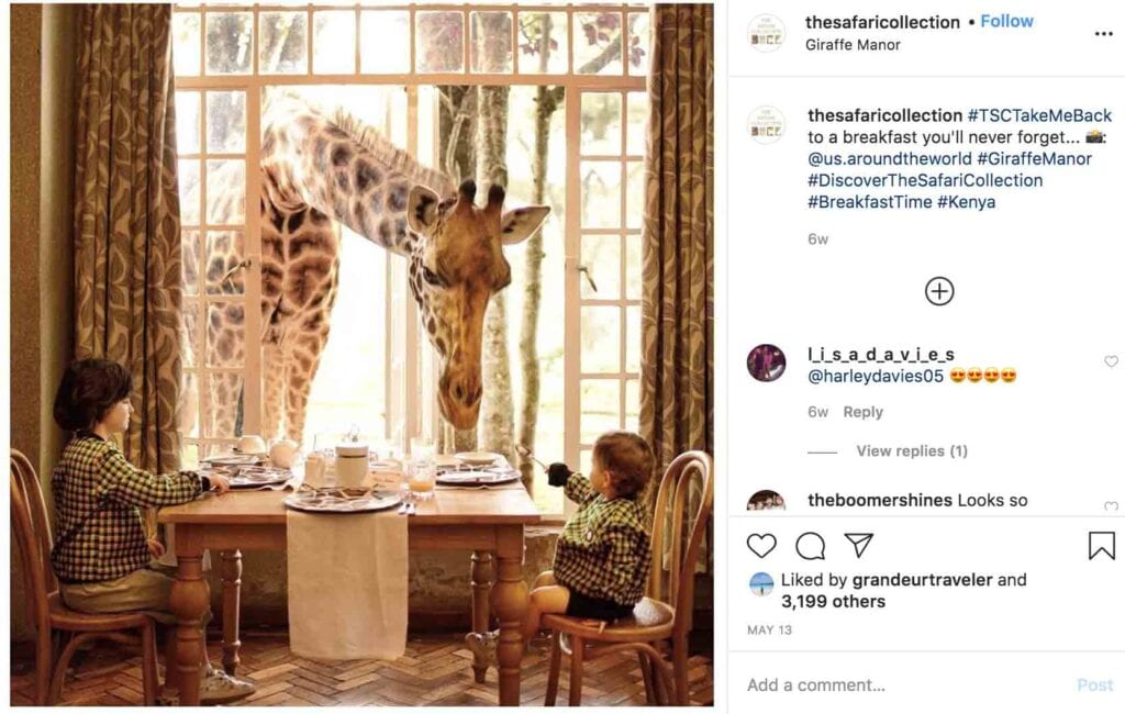 top hotels to follow on Instagram the safari collection