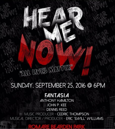"Fantasia ""All Lives Matter"" promo"
