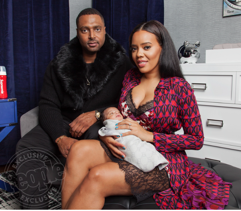 Angela Simmons and fiance Sutton Tennyson for People Magazine