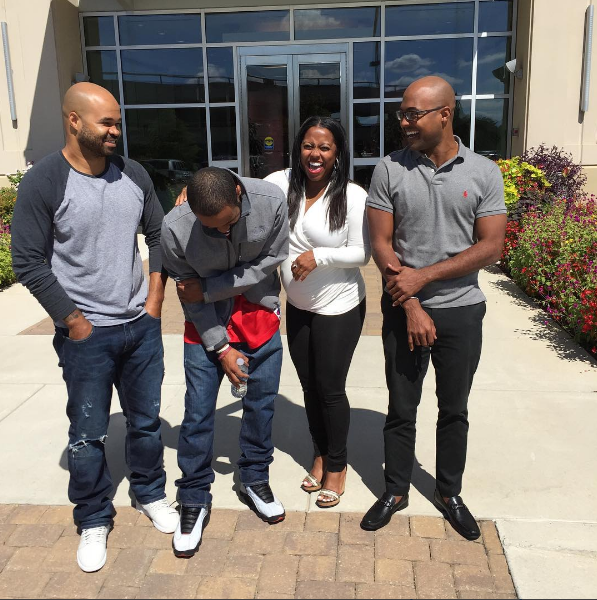 Keshia Knight Pulliam and her brothers