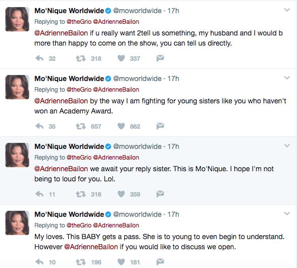 Monique @moworldwide responds to Adrienne Bailon The Real comments