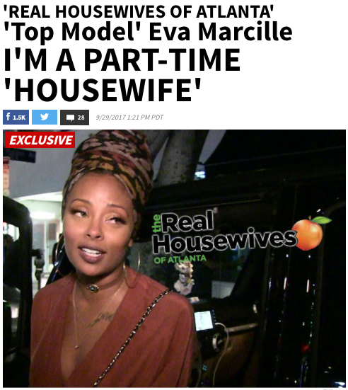 Eva Marcille film Real Housewives of Atlanta