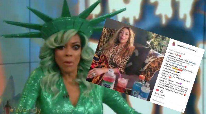 wendy williams video faint stroke live tv instagram update