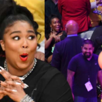 Lizzo Shows Her WHOLE 🍑 At Lakers Game!