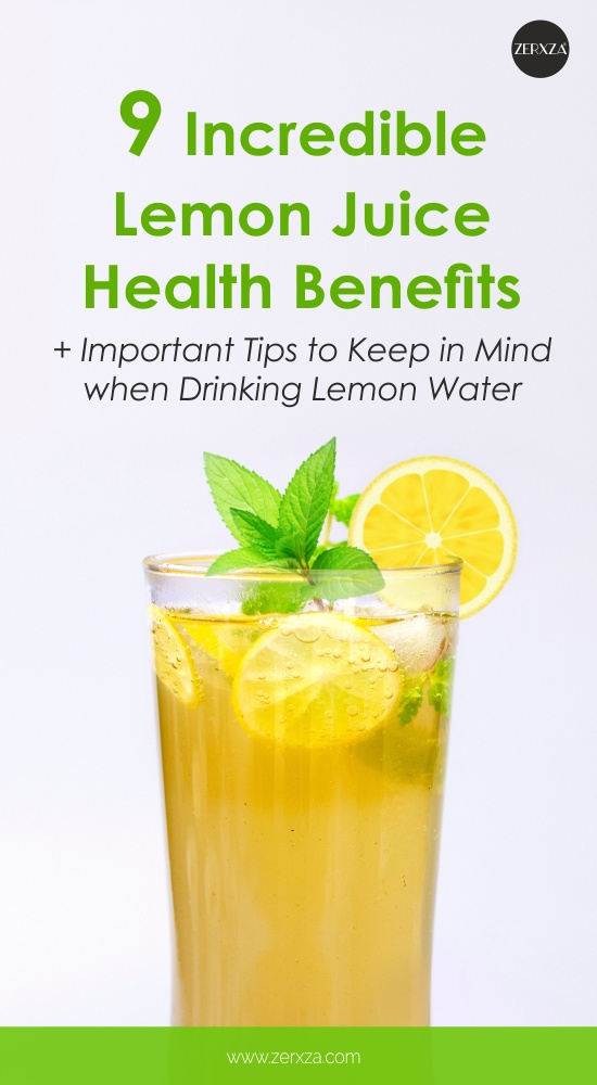 9 Lemon Juice Health Benefits - Guide to Drinking Lemon Water