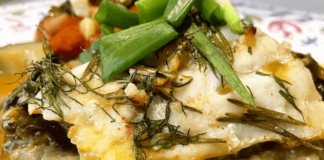 Oven-baked cod with vegetables and lentil puree - Marcus Keller and Viktoria Krusenvald - Zerxza.com